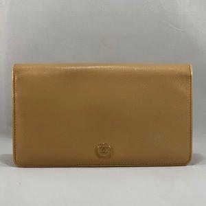 CHANEL Long Bifold Wallet-CC Mark